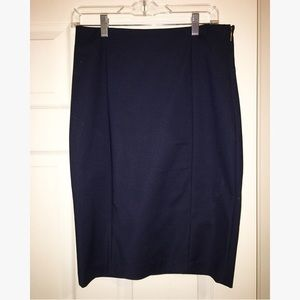Ellen Tracy navy blue pencil skirt
